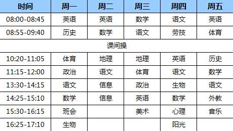天津一中的课程设置以及学生爆料