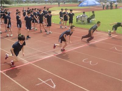 福州中考体育跑步50米用枪声开始吗